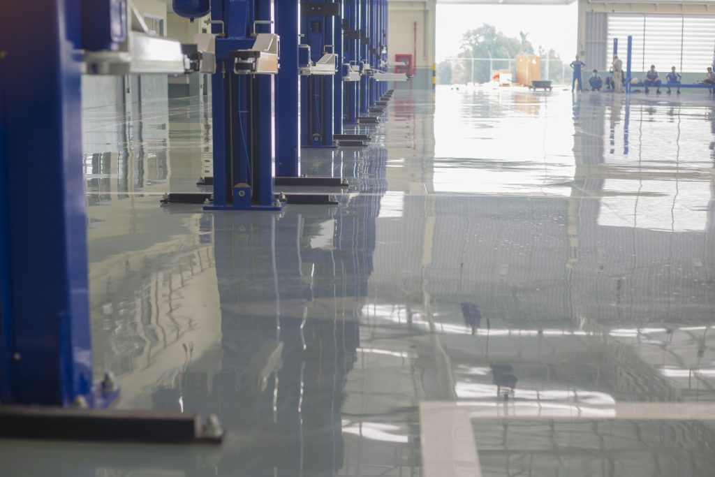 self leveling epoxy industrial floor